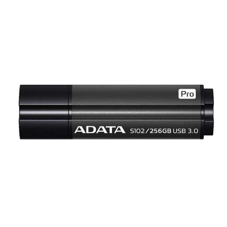 USB kľúč A-Data S102 Pro, 256GB, USB 3.1 - rýchlosť 200/120 MB/s, Black (AS102P-256G-RGY)