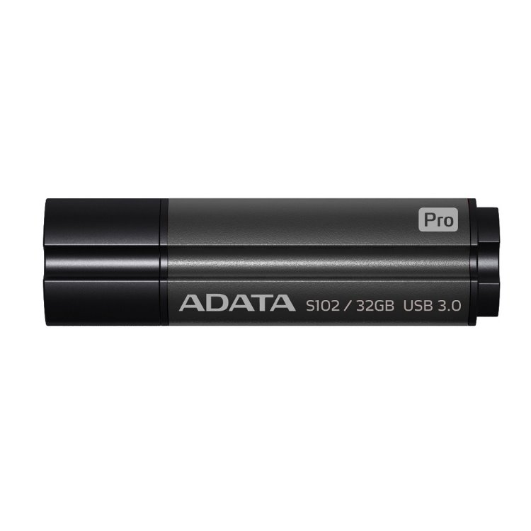 USB kľúč A-Data S102 Pro, 32GB, USB 3.1 - rýchlosť 90/25 MB/s, Black (AS102P-32G-RGY)