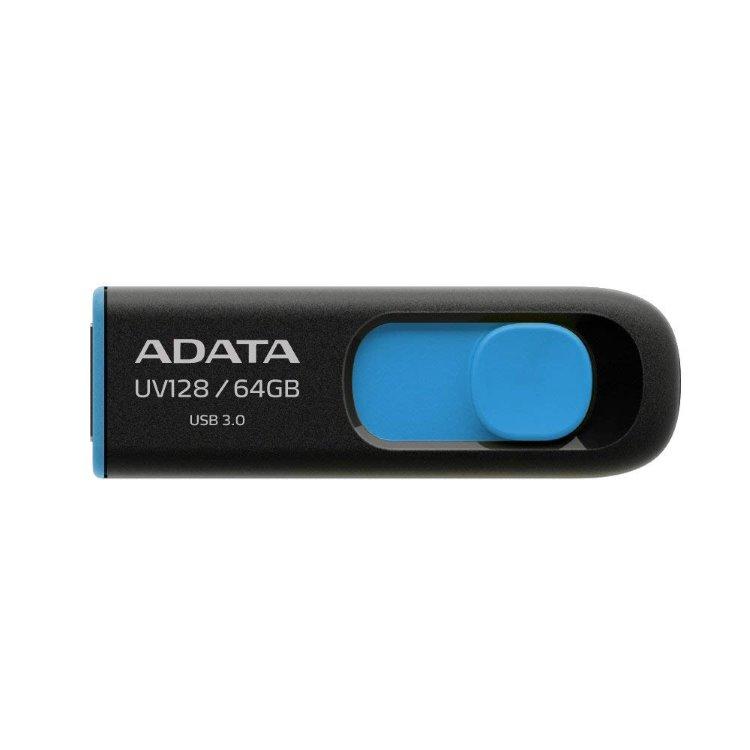 USB kľúč A-DATA UV128, 64GB, USB 3.1 - rýchlosť 90/40 MB/s (AUV128-64G-RBE)