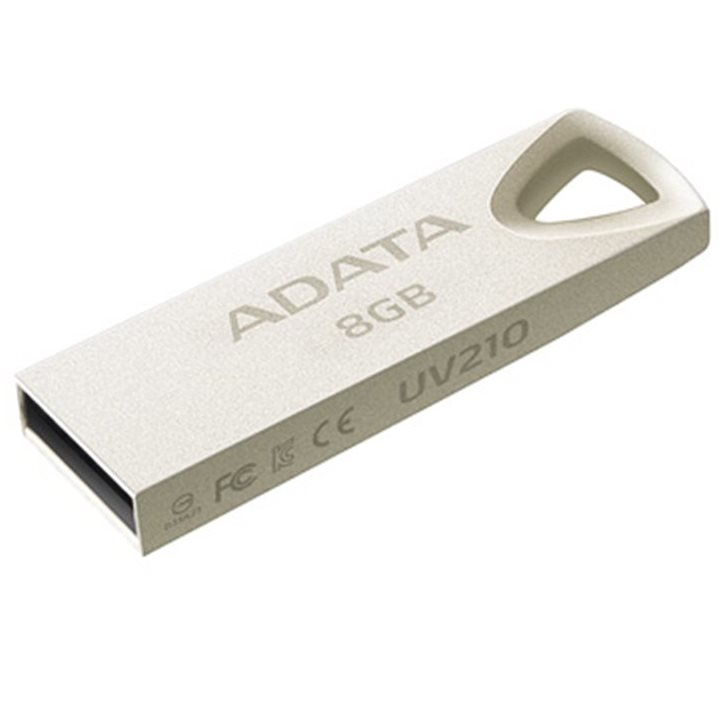 USB kľuč A-DATA UV210, 8 GB, USB 2.0, Steel