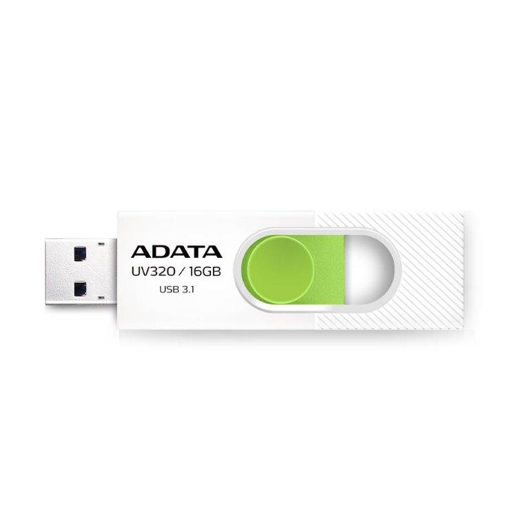 USB kľúč A-DATA UV320, 16GB, USB 3.1 - rýchlosť 80 MB/s, White (AUV320-16G-RWHGN)