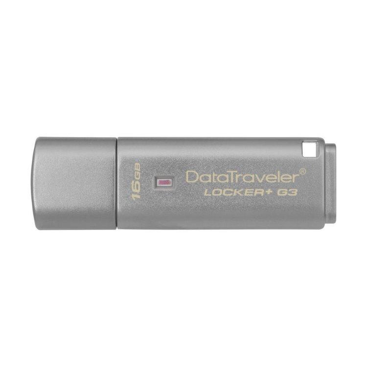 USB kľúč Kingston DataTraveler Locker+ G3, 16GB, USB 3.0 - rýchlosť 135MB/s (DTLPG3/16GB)