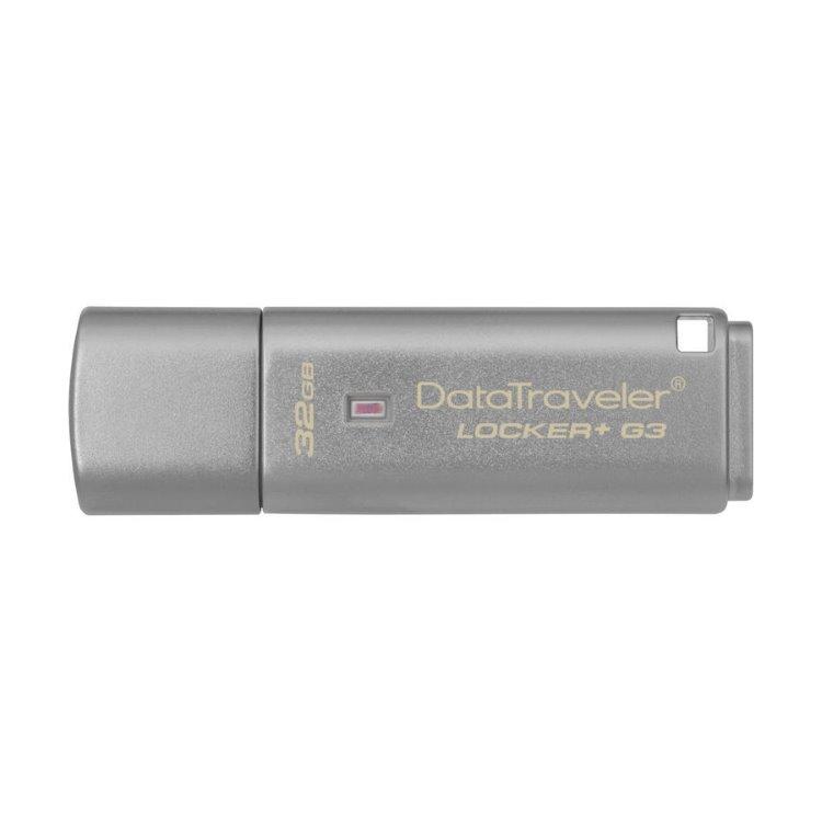 USB kľúč Kingston DataTraveler Locker+ G3, 32GB, USB 3.0 - rýchlosť 135/40MB/s (DTLPG3/32GB)