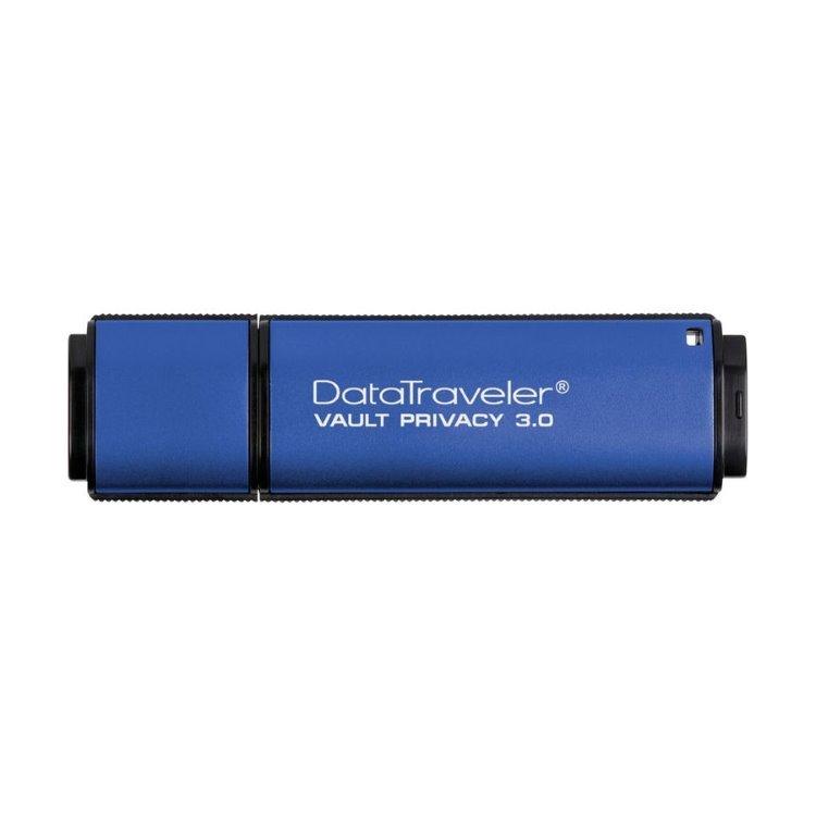 USB kľúč Kingston DataTraveler Vault Privacy 3.0, 64GB, AES 256-bit šifrovanie, USB 3.0 - rýchlosť 165MB/s (DTVP30/64GB)