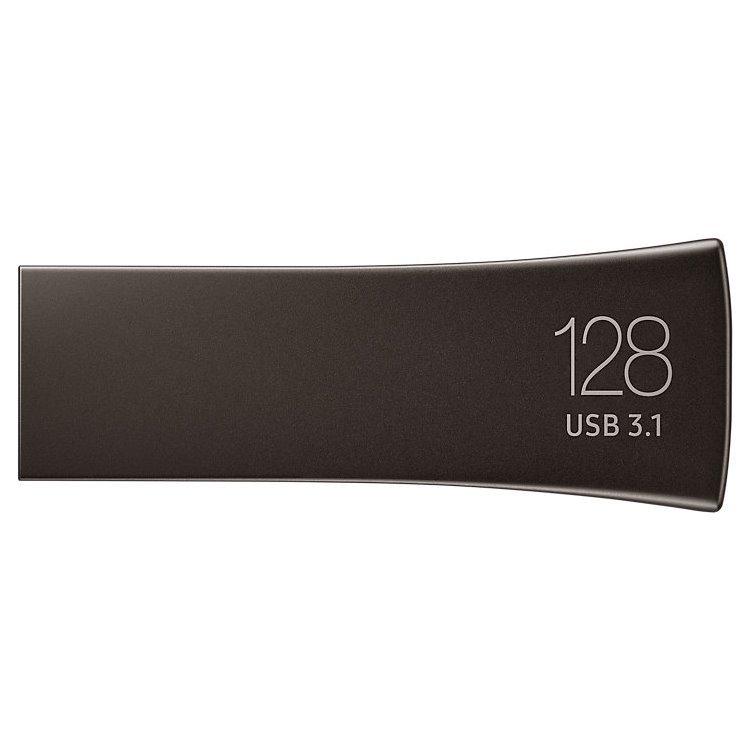 USB kľúč Samsung BAR Plus, 128GB, USB 3.1 - rýchlosť 400 MB/s (MUF-128BE4/APC), Gray