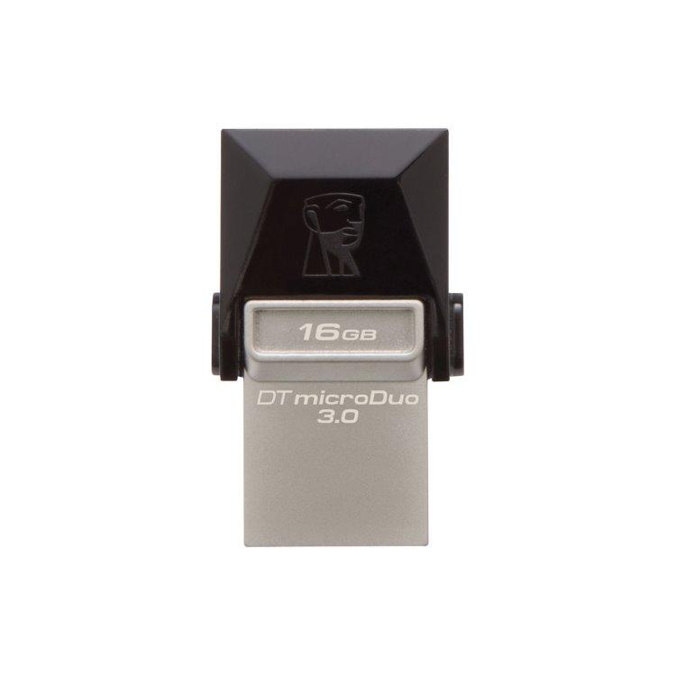 USB OTG Kingston DataTraveler MicroDuo 3.0, 16GB, USB/Micro-USB - rýchlosť 70 MB/s (DTDUO3/16GB)