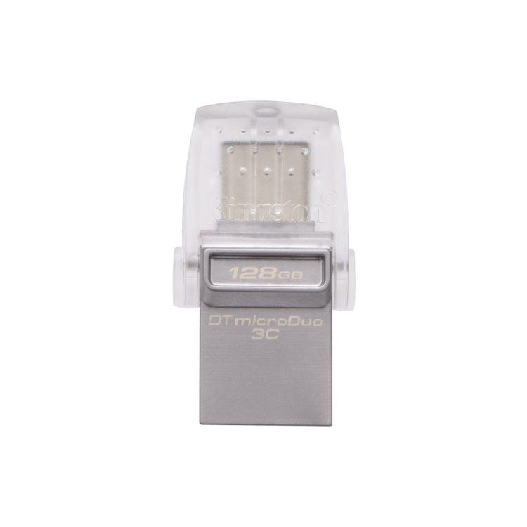 USB OTG Kingston DataTraveler MicroDuo 3C, 128GB, USB/USB-C 3.1 - rýchlosť 100 MB/s (DTDUO3C/128GB) DTDUO3C/128GB