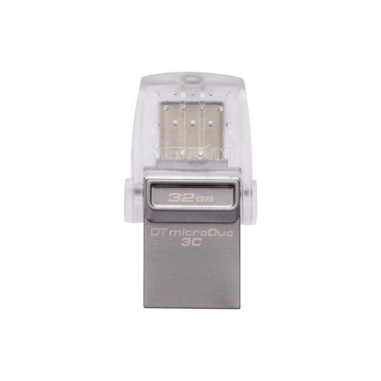 USB OTG Kingston DataTraveler MicroDuo 3C, 32GB, USB/USB-C 3.1 - rýchlosť 100 MB/s (DTDUO3C/32GB) DTDUO3C/32GB