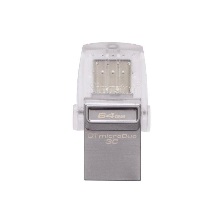 USB OTG Kingston DataTraveler MicroDuo 3C, 64GB, USB/USB-C 3.1 - rýchlosť 100 MB/s (DTDUO3C/64GB) DTDUO3C/64GB