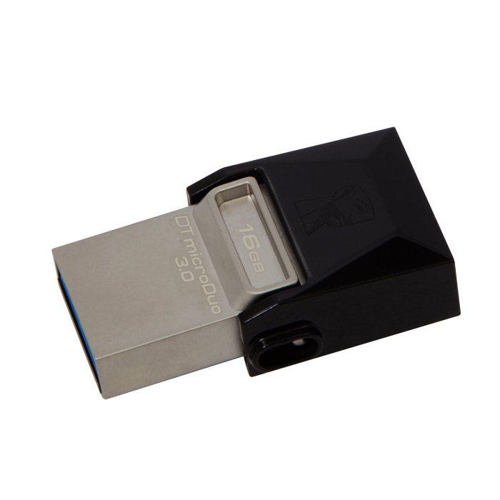 USB OTG pre Váš smartfón alebo tablet - Kingston DT MicroDuo, 16GB, USB 3.0 (DTDUO3/16GB)