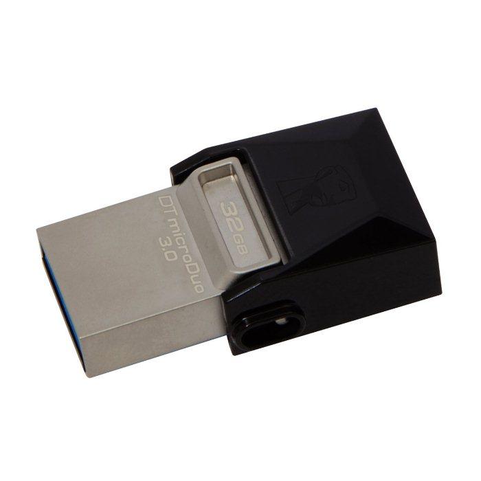 USB OTG pre Váš smartfón alebo tablet - Kingston DT MicroDuo, 32GB, USB 3.0 (DTDUO3/32GB)