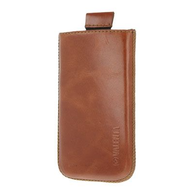 Valenta Pocket Classic Brown, do veľkosti 115.2 x 58.6 x 9.3 mm (Apple iPhone 4/4S)