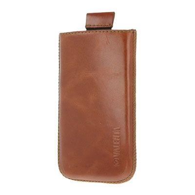 Valenta Pocket Classic Brown, do veľkosti 125.3 x 66.1 x 8.5 mm (Samsung Galaxy S II)