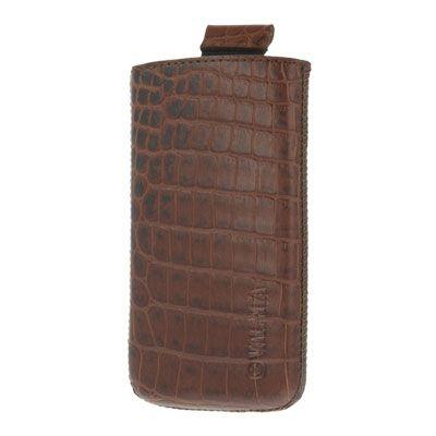 Valenta Pocket Croco Brown, do veľkosti 115.2 x 58.6 x 9.3 mm (Apple iPhone 4/4S)