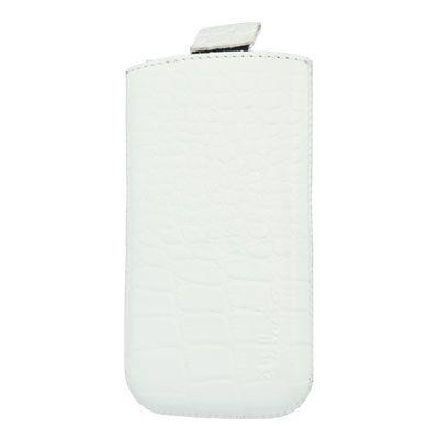 Valenta Pocket Croco White, 115.2 x 58.6 x 9.3 mm (Apple iPhone 4/4S)