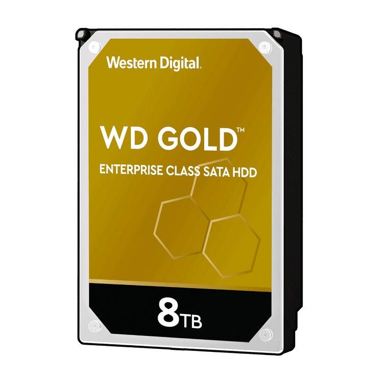 """Western Digital HDD Gold, 8TB, 256MB Cache, 7200 RPM, 3.5"""" (WD8004FRYZ)"""