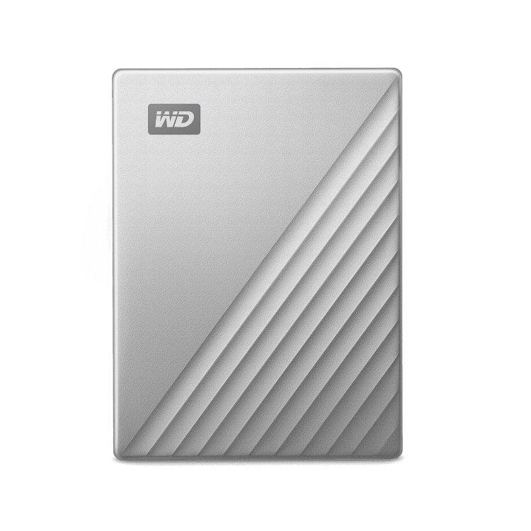 Western Digital HDD My Passport Ultra, 4TB, USB-C, Silver (WDBYVG0040BBK-WESN)