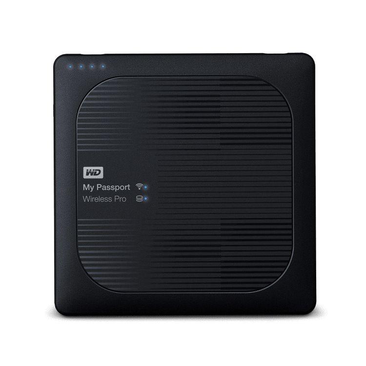 Western Digital HDD My Passport Wireless Pro, 4TB, USB 3.0 (WDBSMT0040BBK-EESN)