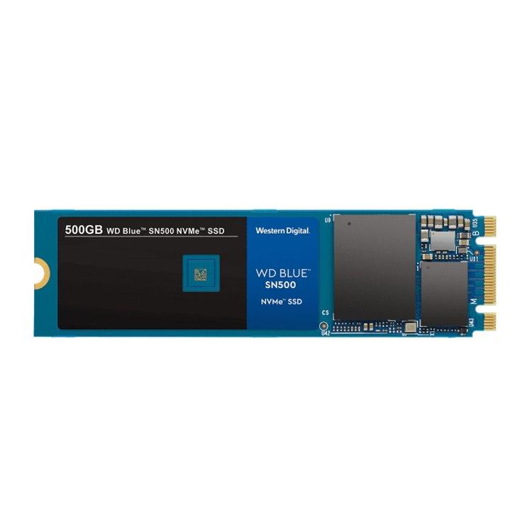 Western Digital SSD SN500 Blue, 500GB, NVMe M.2 - rýchlosť 1700/1450 MB/s (WDS500G1B0C)