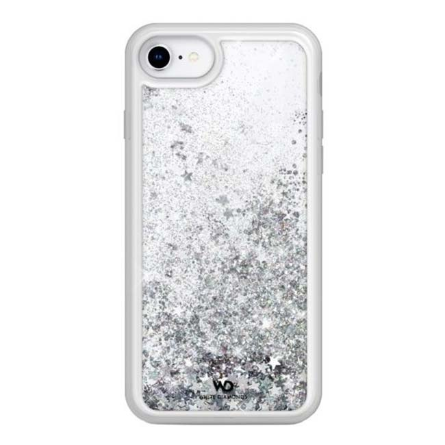 White Diamonds Sparkle Case Clear iPhone 6/7/8/SE 2020, Silver Stars