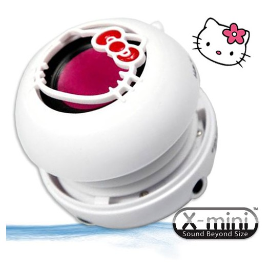 X-Mini Hello Kitty - prenosn� reproduktor - 3.5 mm jack, White