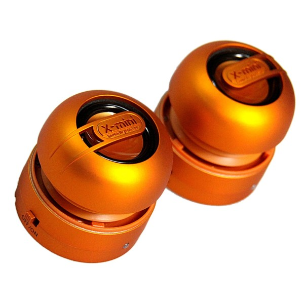 X-Mini MAX, stereo prenosn� reproduktory - 3.5 mm jack, Orange