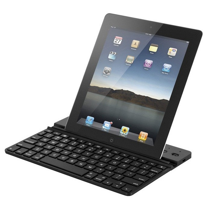 ZAGGkeys Solo - bluetooth kl�vesnica pre tablety - iPad, Galaxy Tab, Note N7000/N7100, N8000/N8010 a �al�ie - Black