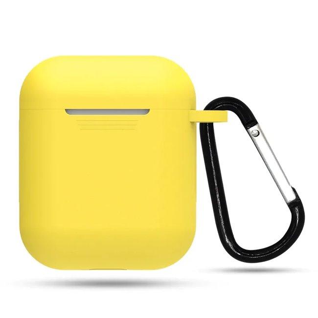Žltý silikónový obal s karabinkou pre Apple AirPods MMEF2ZM/A