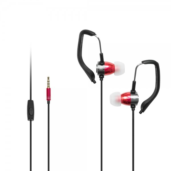 BlackMoon Sport, káblový Headset 3,5 mm, Red