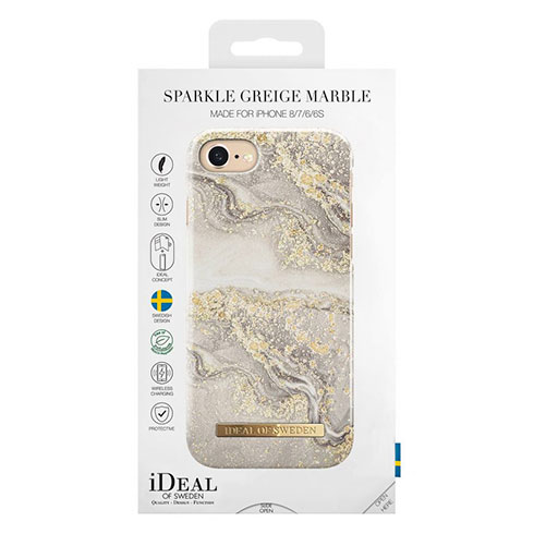 iDeal Fashion Case iPhone 8/7/6/6s/SE Sparkle Greige Marble