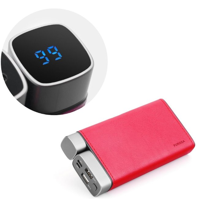 PowerBank PURIDEA X02 - 26 000 mAh, Red