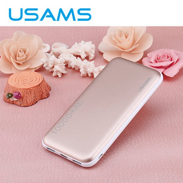 PowerBank USAMS CUBE - 10 000 mAh, Rose Gold