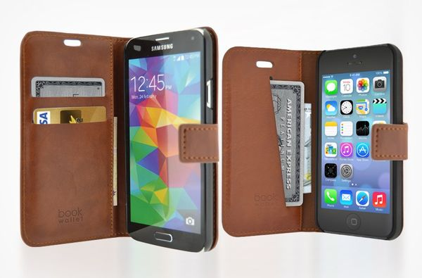 Puzdro 4-OK Wallet Stand With Card Pocket Pre Galaxy Note 4, Hnedá