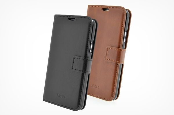 Puzdro 4-OK Wallet With Card Pocket Pre iPhone 6 Plus, Hnedá