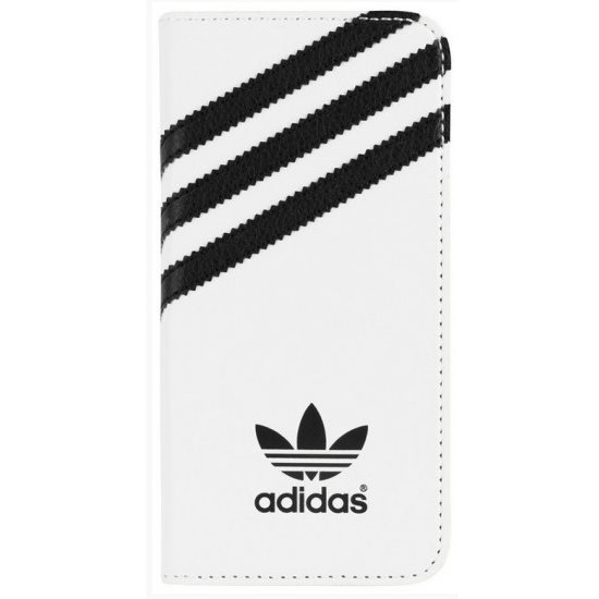 Puzdro Adidas Originals, Booklet pre Apple iPhone 5 a Apple iPhone 5S, White