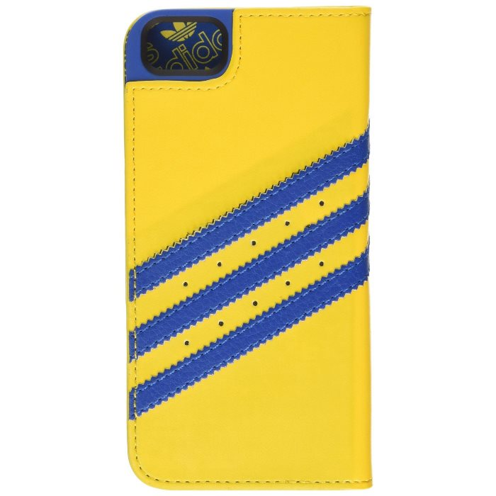 Puzdro Adidas Originals - Booklet pre Apple iPhone 5 a Apple iPhone 5S, Yellow Blue