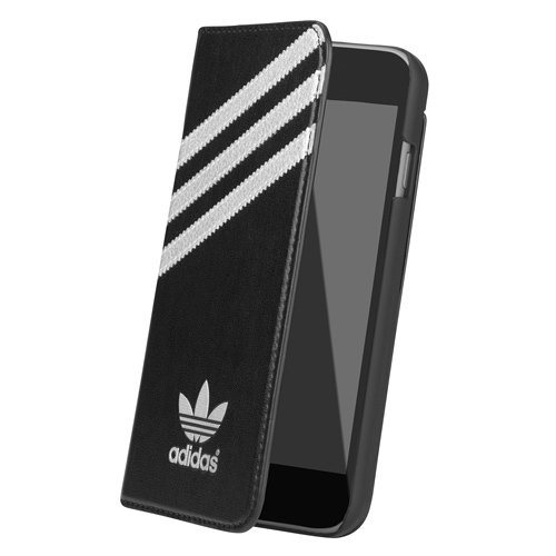 Puzdro Adidas Originals - Booklet pre Apple iPhone 6 Plus a Apple iPhone 6S Plus, Black/White