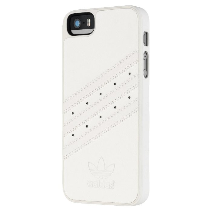 Puzdro Adidas Originals - Moulded pre Apple iPhone 5 a Apple iPhone 5S, White/White