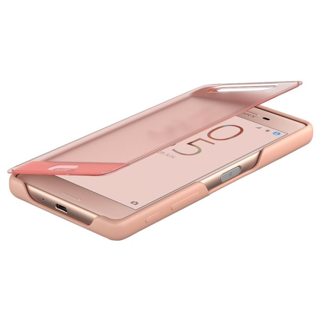 Puzdro Sony Style Cover SCR50 pre Sony Xperia X - F5121, Rose Gold