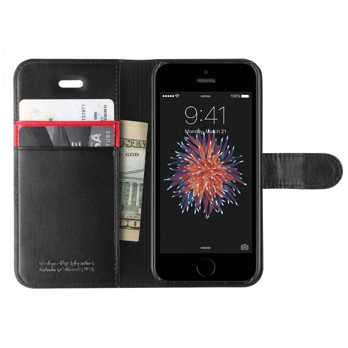 Puzdro Spigen Wallet S pre Apple iPhone 5, 5S a SE, Black