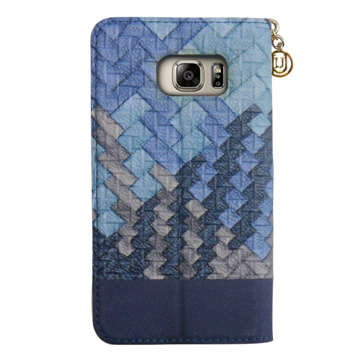 Puzdro Uunique 50:50 Embossed Weave pre Samsung Galaxy S7 Edge - G935F, Aqua Blue