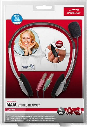 Speed-Link Maia Stereo Headset, black-silver
