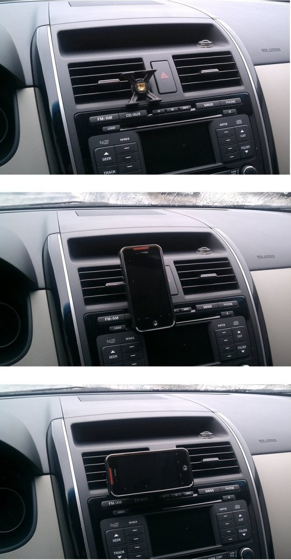 Držiak do auta tetrax XWAY do mřížky ventilace pro Váš smartphone