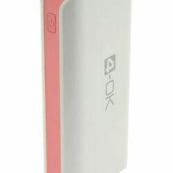 4-OK Power Bank 4.0 - 4000 MAH - White/Pink