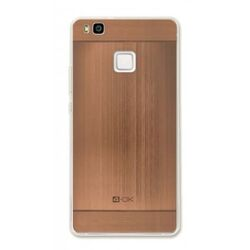 4-OK TPU METAL CASE FOR HUAWEI P9 LITE COLOR ROSE GOLD