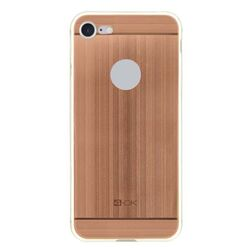 4-OK TPU METAL Case for iPhone 7 color rose gold
