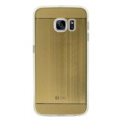 4-OK TPU METAL CASE FOR SAMSUNG GALAXY S7 EDGE COLOR ORO