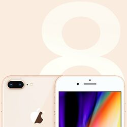 Apple iPhone 8 Plus, 256GB, Gold