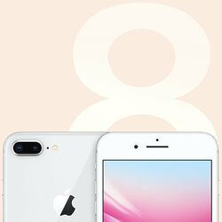 Apple iPhone 8 Plus, 64GB, Silver