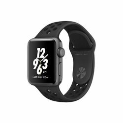 Apple Watch Nike+, 38mm Space Grey Aluminium Case with Anthracite/Black Nike Sport Band MQ162CN/A